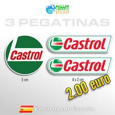 3 pegatinas Castrol sponsor sticker vinilo adhesivo coche moto racing