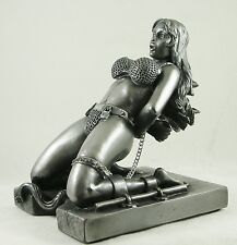 Erotic Figure Chained Chastity Bondage Slave Girl Figurine Fetish Boudoir Statue
