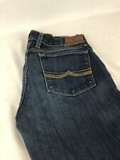 LUCKY BRAND Woman's Jeans Size 28X33 Dark Blue Zipper Front Charlie Straight