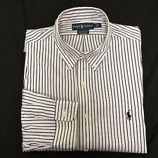Ralph Lauren Mens Custom Fit Long Sleeve Button Down Dress Shirt Size17 1/2- 44
