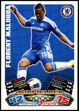 Florent malouda chelsea #80 topps match attax football 2011-12 carte (C208)