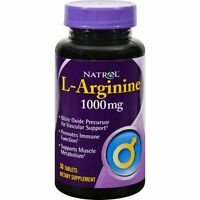 Natrol L-Arginine 1000mg 50 Tablets
