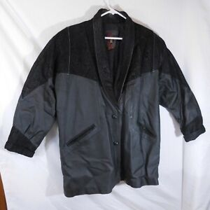 Woman's G-III Decorative Leather Jacket Size 2X Fully Lined