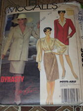 McCALL'S #9350-JOAN COLLINS - DYNASTY-LADIES JACKET-BLOUSE & SKIRT PATTERN 14 FF