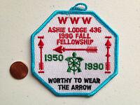 ASHIE OA LODGE 436 SCOUT PATCH SERVICE 1990 FALL FELLOWSHIP