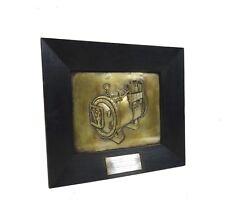 ANTIQUE BRASS STEAM MACHINE AGE INDUSTRIAL WALL ART PLAQUE ART DECO 1938