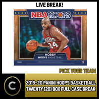 2019-20 PANINI HOOPS BASKETBALL 20 BOX FULL CASE BREAK #B283 - PICK YOUR TEAM