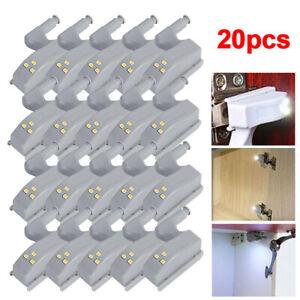 10/20X LED Sensor Hinge Lights for Home Kitchen Cabinet Cupboard Closet Wardrobe