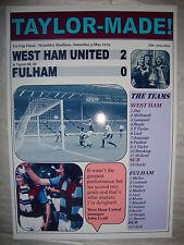 West Ham United 2 Fulham 0 - 1975 FA Cup final - souvenir print