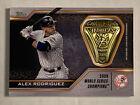 Alex Rodriguez World Series Ring Relic 2020 Topps #WSR-AR New York Yankees