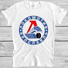 Lokomotiv Yaroslavl T Shirt Ice Hockey Russian Moscow Atletic Retro Tee 5306