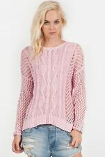 2015 NWT WOMENS VOLCOM FISHIN SWEATER TOP $50 S powder pink knit sweater