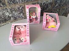 Vintage# 3X Baby Pink Panther Mgm  Baby Slippers Plush &Doudou#Nib