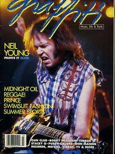 Neil Young Graffiti Magazine July 1988 #X2727