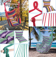 Hanging Rope Chair With Pillows Swing Chair Hammock Chair Yard Garden Outdoor US