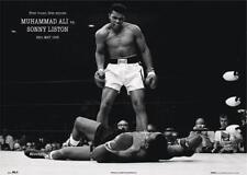 Muhammad Ali vs. Sonny Liston Poster, legendärer Boxkampf, 91,5 x 61 cm NEU