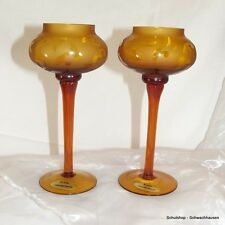 Leuchter 2er Set Teelicht bernsteinfarbend B Weihnachten Advent Deko 2
