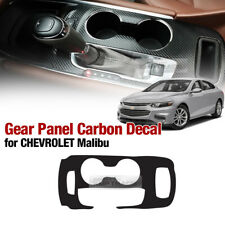 Interior Gear Panel Carbon Skin Decal Sticker For CHEVROLET 2016 - 2018 Malibu