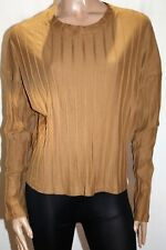 ICON Brand Brown Wide Rib Over Sized Long Sleeve Top Size S/M BNWT #SR110