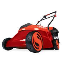 Sun Joe Cordless Lawn Mower   14 inch   28V   5 Ah   Brushless Motor (Red)