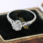 Mid 20th Century Solid Platinum, Solitaire 0.83ct Diamond Ring Not 18ct Gold