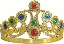 Hyfive Crown from Plastic - Queen Style in Gold with Jewels