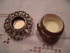 2 StückTeelichthalter Keramik Kunststoff Metall teils goldfarben Weihnachten II