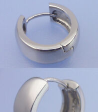 Singel Herrencreole Silber 17 x 5 mm Klappcreole Sterlingsilber 17 x 5 mm matt