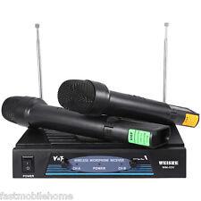 WEISRE wm-03v PROFESSIONALE 220 - 270Mhz KARAOKE MICROFONO SET
