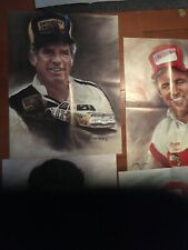 Vtg  David Pearson, Waltrip, More! Jeanne Barnes 1982 NASCAR Posters  Lot Of 5