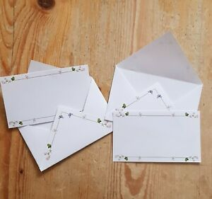 Wild Pink Roses & Butterflies small mini envelopes + matching inserts (8 or 16)