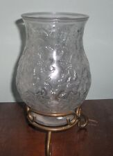 PRINCESS HOUSE LARGE HURRICANE LAMP CANDLE HOLDER CHRISTMAS PATTERN PILLAR
