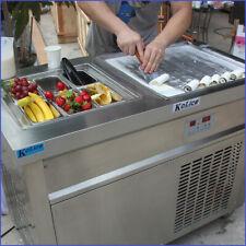 Commercial Kolice single square pan+6 tanks fry ice cream roll machine