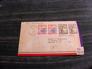 FIJI 1941 FFC TO US W/SCOTT# 127 (PR), 123 (PR)