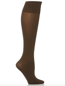 GENUINE NEW DESIGNER TRASPARENZE DARK BROWN CINZIA KNEE HIGH SOCKS UK4-8 RRP£12