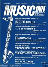 CARTOLINA CONCERTI ALA AZZURRA MUSIC INN BOLOGNA 1985 FRANK ZAPPA 200 MOTELS