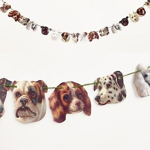 Quirky Dog Garland Bunting Party Wedding Dog Lover Vet Pet Groomer Decoration