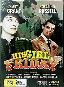 His Girl Friday (DVD, 2004, R0) - Used Good Condition -
