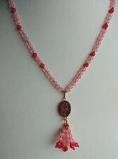 Collana girocollo agata rosa viola quarzo drusy nappa nappina argento 925