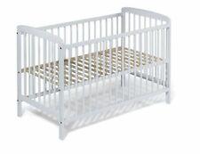 """Lit d'enfant lit de bébé évolutif """"JULI"""" 120x60 blanc style classique bois blanc"""