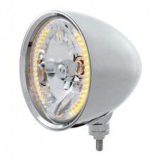 """UNITED PACIFIC 32553 - """"CHOPPER"""" Headlight - 34 Amber LED H4 Bulb"""