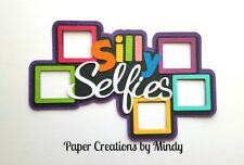 CRAFTECAFE MINDY SILLY SELFIES PICTURES  premade paper piecing TITLE scrapbook