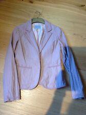 Jigsaw Ladies Pink Blazer Jacket Size 10 Cotton Lined