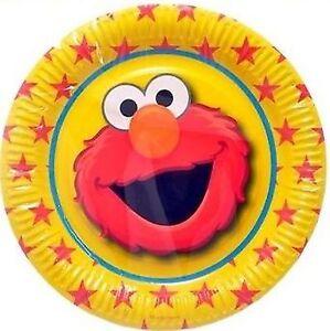 Elmo Sesame Street Party Supplies - Paper Party Plates 6 pack 23cm