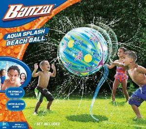 Banzai | Aqua Splash Beach Ball | Giant Sprinkler Ball