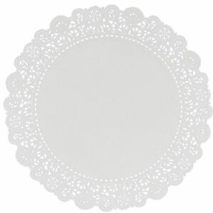 Lacette White Round Paper Lace Doyleys Doylies Doilies Pack of 250 Choose Size