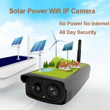 160° Wide Angle Solar Powered Wireless WIFI IP Surveillance Camera Night Vision
