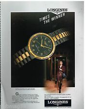 Publicité Advertising 1990 La montre Longines Conquest VHP