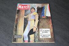 (122A) PARIS MATCH N°222 Juin 1953 : 24 heures du Mans / Margaret / Torero...
