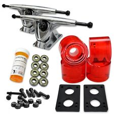 HD7 Longboard Combo set - Polished trucks (Gel Red)